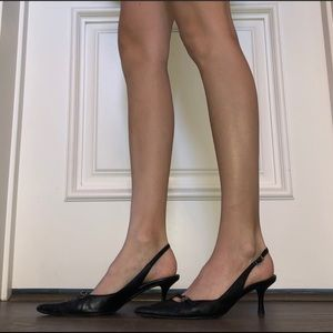 Black Christian Dior kitten heel